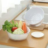 雙層瀝水洗菜籃 家用 洗米籃 瀝水籃 加厚 塑料 水果籃 廚房 洗菜盆【Z174】MY COLOR