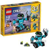 樂高積木樂高創意百變系列31062機器人探險家LEGO積木玩具xw
