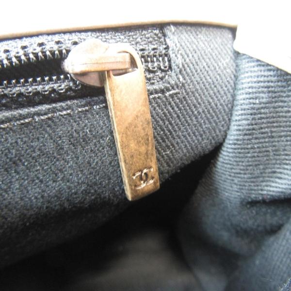 CHANEL 香奈兒 棕色蠟光抓皺牛皮復古金釦手提肩背2way包 Flap Bag with Top Handle