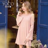 東京著衣【YOCO】微糖美人多色挖肩長版針織上衣-S.M.L(172141)