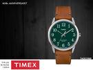 【萬年鐘錶】TIMEX INDIGLO冷光面板  40週年特別款 綠錶面 棕皮帶  38mm TW2R35900