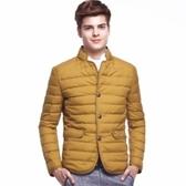 羽絨外套-時尚休閒高檔保暖男立領夾克3色73ka78【巴黎精品】