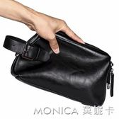 時尚男士小包手包 韓版皮質手腕包 商務休閒小包男包手抓包手機包 美斯特精品