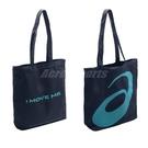 Asics 托特包 藍 綠 帆布材質 肩背包 提袋 運動背袋 包包 【ACS】 TWK05543