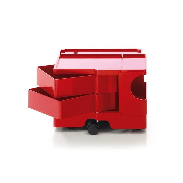 B-Line Boby Storage Trolly System Mod.XS H31.5cm 巴比 多層式系統 收納推車 - 低尺寸 (雙抽屜收納) 紅色款