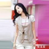 背心 馬甲女短款夏季新款韓版時尚百搭單薄西裝馬夾坎肩外套 QQ4788『優童屋』