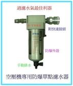 空壓機專用防爆單點濾水器F502-附快速接頭