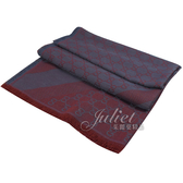 茱麗葉精品【全新現貨】GUCCI 281942 雙G 羊毛絲綢披肩圍巾.藍紅