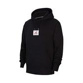 Nike Jordan Fleece 男款 黑色 刷毛 喬丹 Logo 長袖 帽T 連帽上衣 CV6147-010