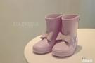 兒童雨鞋小童輕便雨鞋可愛公主蝴蝶結小雨靴【奇趣小屋】