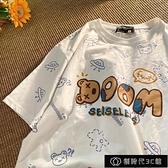 2021年純棉小熊短袖t恤ins潮網紅中學生韓版寬鬆半袖原宿風寬鬆女【全館免運】