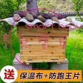 蜜蜂蜂箱全套煮蠟杉木密蜂箱中蜂意蜂標準十框蜂桶養蜂專用工具 【快速出貨】