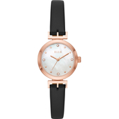 ELLE ODEON 系列優雅小錶徑女錶-珍珠貝x黑/26mm ELL21004