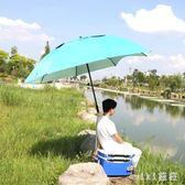 戶外漁具釣魚傘萬向防雨2米2.2米碳素超輕折疊防曬臺釣雨傘 nm3082 【VIKI菈菈】