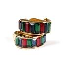 D'ORLAN 彩色水晶半月夾式耳環(彩色)990110