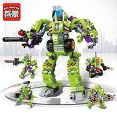積木啟蒙變形系列金剛機甲兼容積木兒童5益智拼裝玩具男孩6-10歲