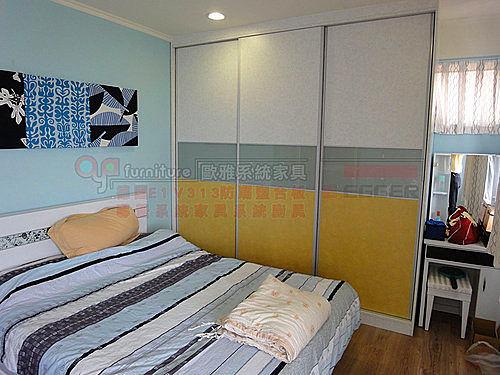 【歐雅系統家具 】TS拉門 訂做 系統衣櫃 顏色自配 旋轉穿衣鏡 E1V313塑合板