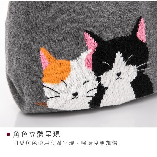 Kiro貓‧好友貓 羊毛線 手提/斜背包/兩用包/針織包【260072】