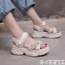 鬆糕涼鞋 涼鞋年女厚底鬆糕夏季仙女風網紅...