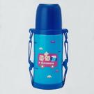 日本製 miki house 不銹鋼保溫保冷水壺 370ml 藍動物巴士-超級BABY