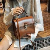 手提包 百搭新款單肩包純色休閒手提斜挎女包潮 FR3763『夢幻家居』