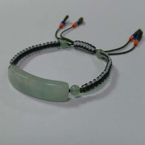 緬甸玉手排雙色線中國結手環