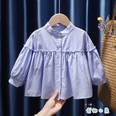女童襯衫秋裝時尚韓版上衣襯衣【奇趣小屋】