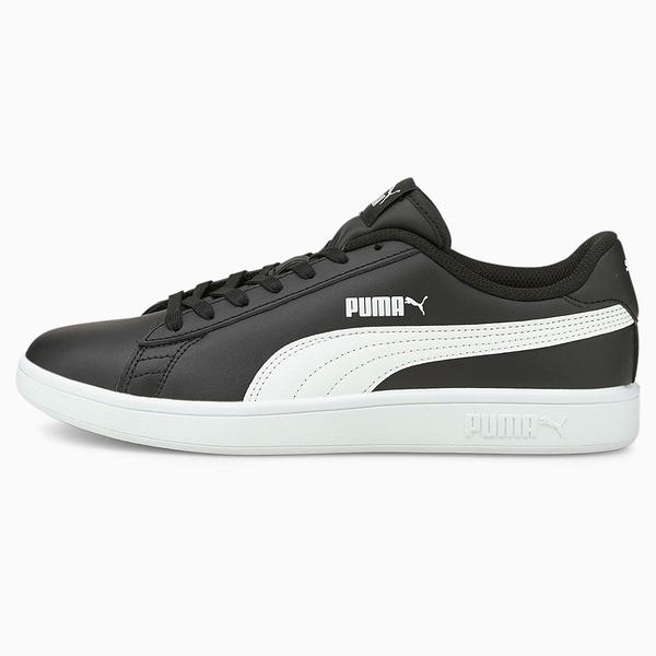 PUMA SMASH V2 男鞋 休閒 板鞋 復古 皮革 黑【運動世界】36521504