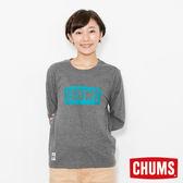 CHUMS 日本 女 LOGO 長袖圓領T恤 炭黑 CH111284G012