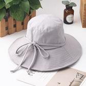 漁夫帽 素色 簡約 布帽 盆帽 大帽簷 遮陽 漁夫帽【JYF0095】 icoca  04/12