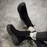 chic馬丁靴女英倫風厚底學生短筒秋新款ins短靴韓版百搭靴子