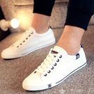 歡慶中華隊小白鞋男夏韓版低筒平底板鞋男女式情侶大碼鞋白色帆布鞋透氣單休閒鞋