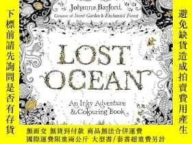 二手書博民逛書店Lost罕見Ocean: An Underwater Adventure & Colouring BookY4