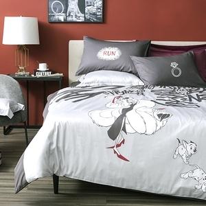 HOLA 迪士尼系列 反派 純棉床被三件組 庫伊拉 單人 Cruella VILLAINS