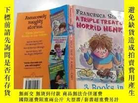二手書博民逛書店a罕見triple treat of horrid henry : 三重對待可怕的亨利.Y200392
