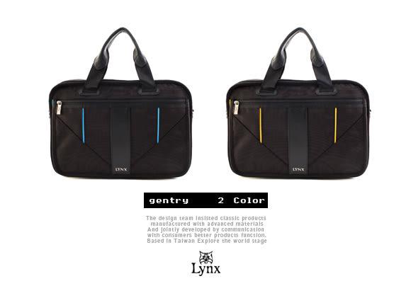 Lynx - 山貓科技概念系列手提斜背式公事包-牛津藍