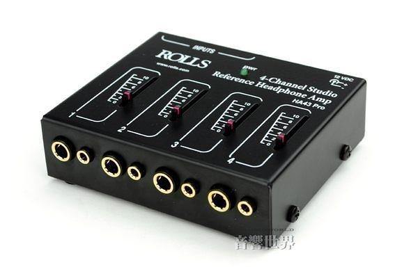 音響世界。美國ROLLS HA43 Pro四軌Studio級耳機放大分配器。Made in USA