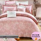 高級四件式【兩用被套+薄床包】(6*6.2尺) /雙人加大/精梳棉/『夢幻莊園』