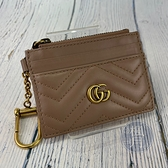 BRAND楓月 GUCCI 古馳 627064 膚色MARMONT零錢包 山形紋 小羊皮 卡夾 卡包 小錢包 LOGO