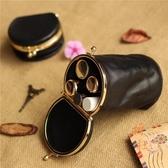 圓桶形口紅包包便攜迷你可愛零錢硬幣鑰匙包收納袋子【橘社小鎮】