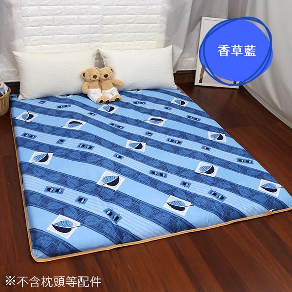 雙人加大床墊 學生床墊  雙人床墊《6尺香草風情竹面透氣雙人加大床墊》-台客嚴選