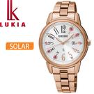 【萬年鐘錶】SEIKO LUKIA  太陽能 時尚 限量款 女錶  34mm   SUT302J1(V137-0CG0G)