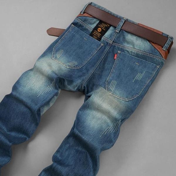 牛仔褲 牛仔褲 春季款直筒寬鬆牛仔褲男士潮牌百搭學生修身休閒韓版潮流社會褲子