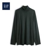 Gap男裝基本款型半高領針織上衣474779-森林綠