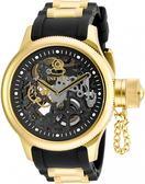 【INVICTA】簍空機械腕錶 - 52mm 金黑色