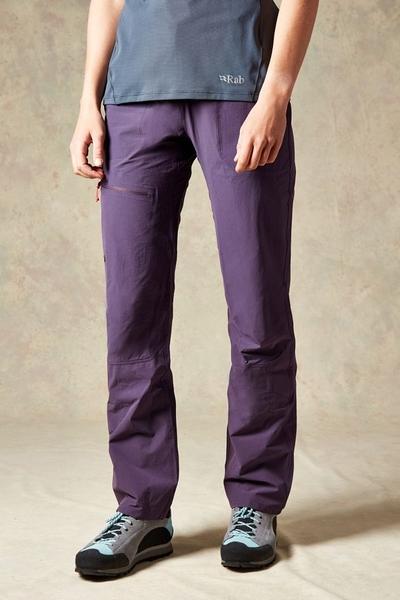 [好也戶外]Rab Women's Helix Pants彈性快乾長褲 無花果紫/石墨灰