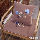 坐墊 新中式坐墊古典圈椅實木椅子坐墊紅木沙發坐墊夏刺繡 nm13113【宅男時代城】
