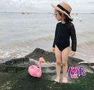 得來福泳衣,D14仙妃露背連身泳衣長袖泳衣兒童泳衣小朋友游泳衣正品,整套售價599元