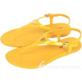 PRADA 漆皮夾腳涼鞋(黃色) 1520471-66