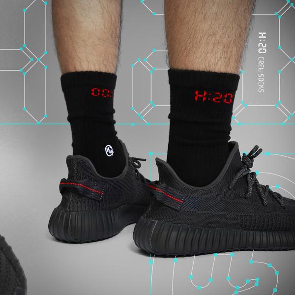 HOWDE LAB H:20 數位時鐘 刺繡 基本款 中高筒襪 男女 19SS04BK